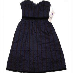"""Nanette Lepore """"Smitten"""" Wool/Silk Strapless Dress"""